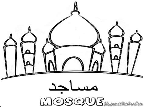 coloring pages islamic sketch masjid nabawi coloring pages