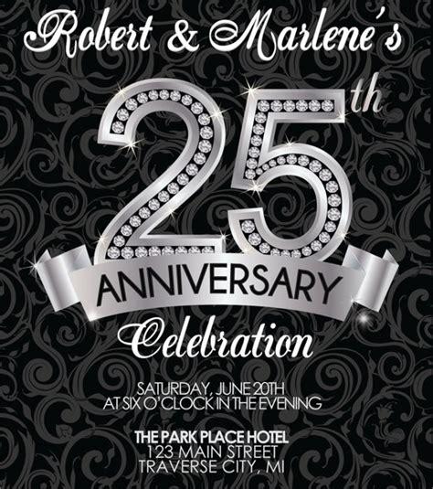 13 Sle Amazing Anniversary Invitation Templates Sle Templates 25th Anniversary Invitation Template