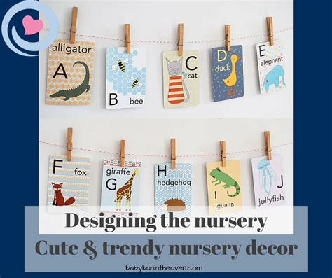 Trendy Nursery Decor Designing The Nursery Trendy Nursery Decor Bun In The Oven