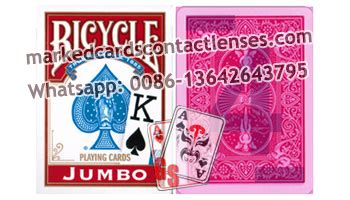 plastic and paper bicycle magic cards with luminous ink