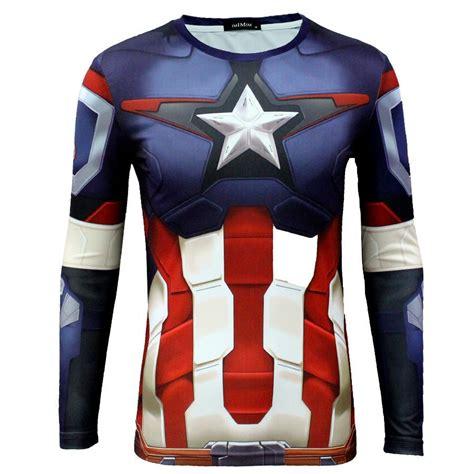 2017 new sleeve t shirt marvel dc comics captain
