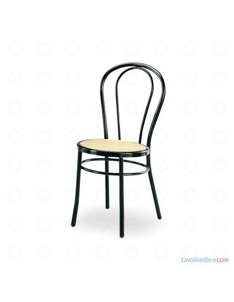 sedia viennese tipo thonet di colore nero