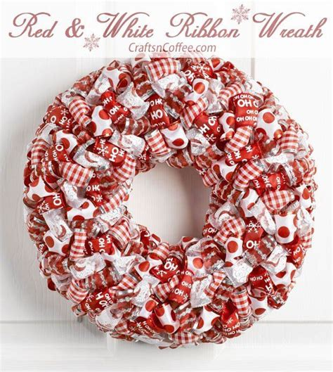 lots of ribbon get it at the dollar store and a wreath of styrofoam brand foam are all you