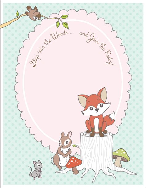 free printable animal invitations free printable woodland animal place cards party