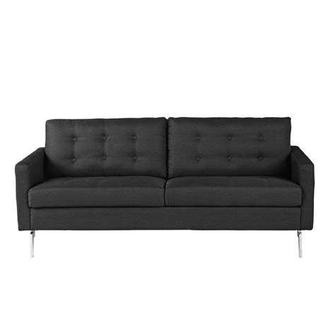 grey retro 2 seater sofa 2 3 seater fabric sofa in charcoal grey victor maisons