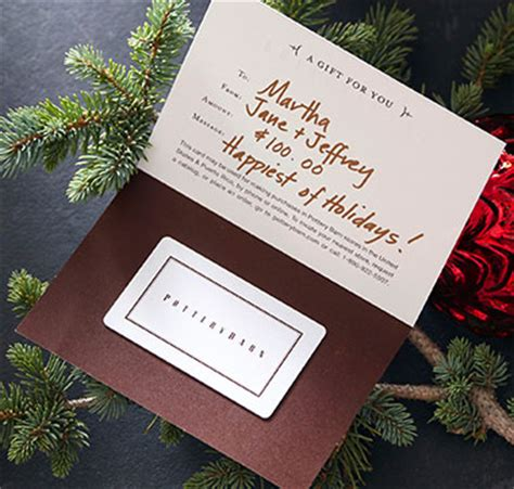 Pottery Barn Gift Card Balance Check - gift services pottery barn