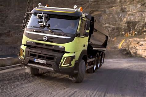 Yokohama Truck Giveaway - hamster driving volvo truck up quarry 7 volvo fmx being steered by hamster photo