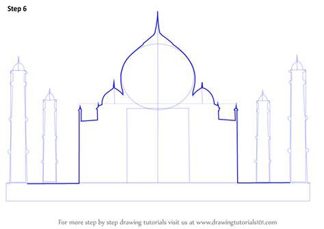 Eiffel Tower Address by Step By Step How To Draw Taj Mahal Drawingtutorials101 Com