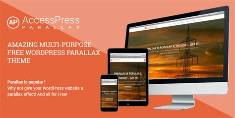 parallax one page wordpress free theme accesspress
