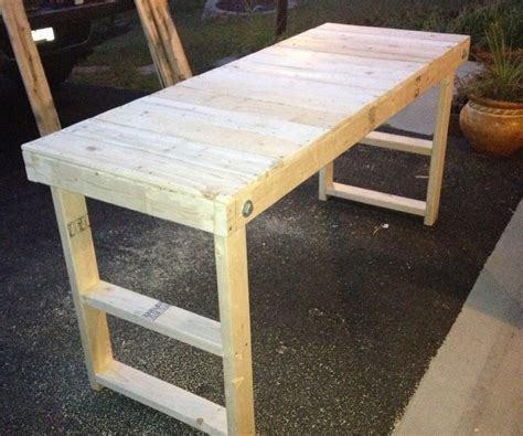 diy metal folding table legs easy cheap folding workbench 4