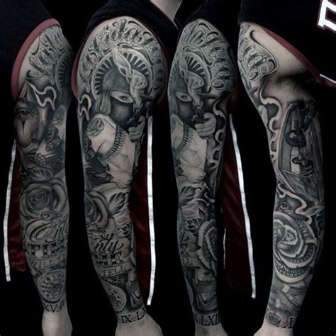 money sleeve tattoos 80 money designs for cool currency ink