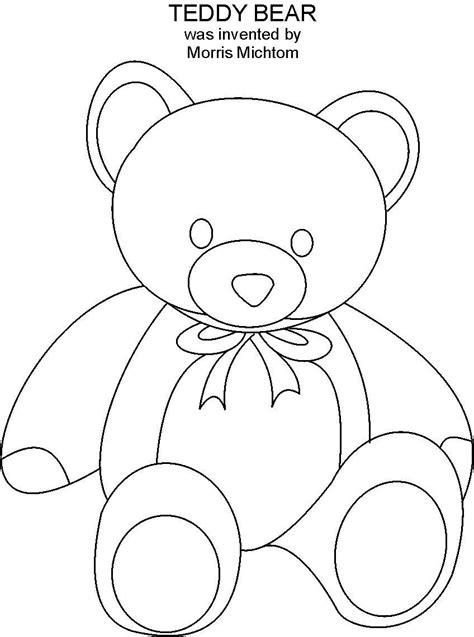 teddy coloring page teddy coloring page