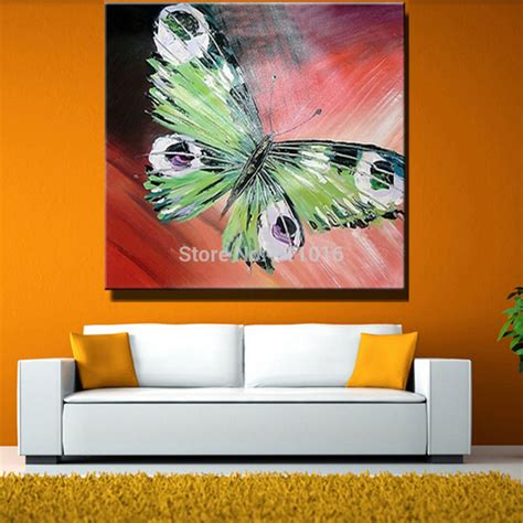 abstract art home decor hand painted abstract butterfly picture home decor knife