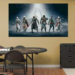 Bedroom Assassin Legacy Mural Assassin S Creed Iv Fathead Wall Decal