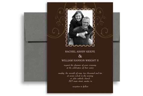 wedding invitation wording for second marriage photo customise second wedding invitation exle 5x7 in vertical wi 1067 designbetty