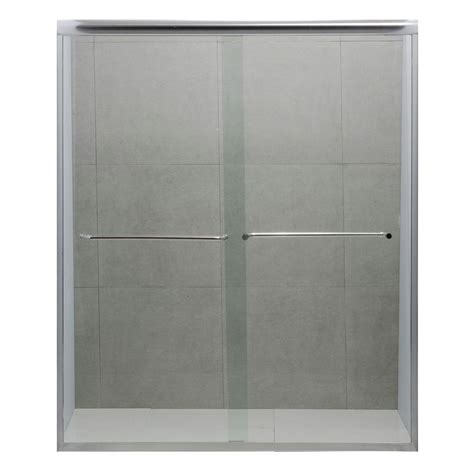 Bypass Shower Doors Frameless Dreamwerks 60 In X 72 In Frameless Bypass Shower Door In Polished Chrome Su1078 The Home Depot