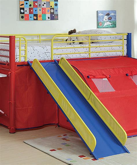 Bunk Beds With Slide And Tent Tent Slide Loft Bed Loft Beds Beds And Look At
