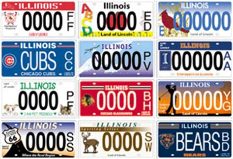License Plate Lookup Illinois Illinois Proposals Would Create More Specialty License Plates