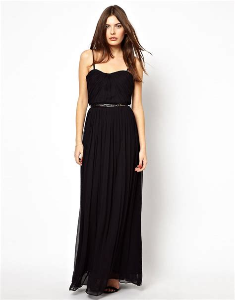 Maxi Dress Blink mango black silk evening wedding maxi dress size
