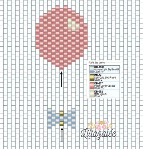 diagramme brick stitch broche ballon en tissage brick stitch et thermocollant