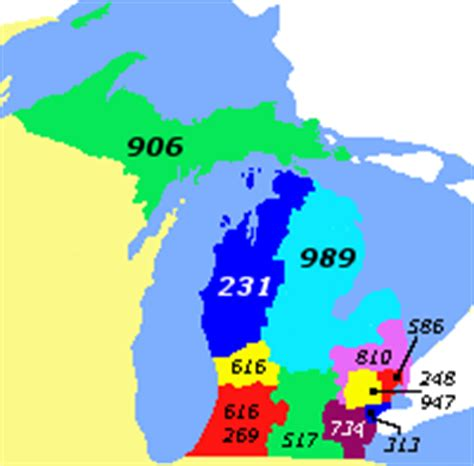 michigan area code map file area codes mi png wikimedia commons