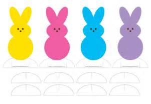 peep template peeps bunny template wesharepics