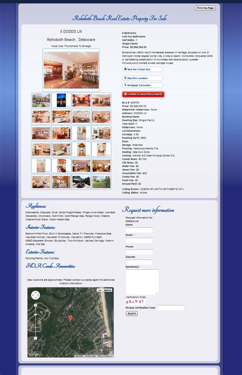 Records Maryland Real Estate Delaware Maryland Real Estate Web Design Company Rets Idx Mls Search Integration