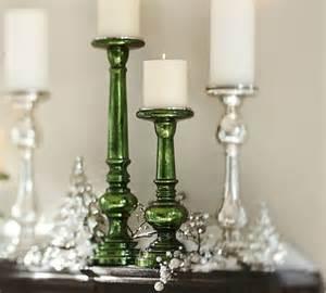 everett green mercury glass pillar holders contemporary