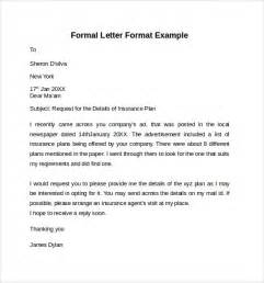 formal cover letters exle of formal letter cover letter templates