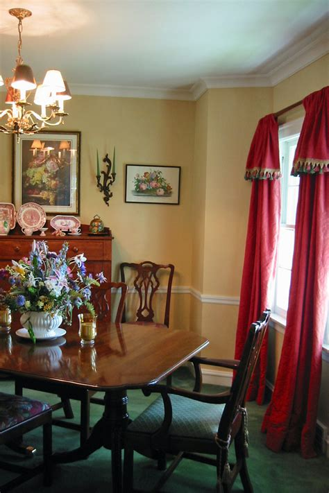 what colour curtains go with red walls red dining room curtains alliancemv com