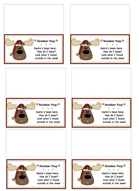 printable reindeer hot chocolate labels 1000 images about christmas favors and ideas on pinterest