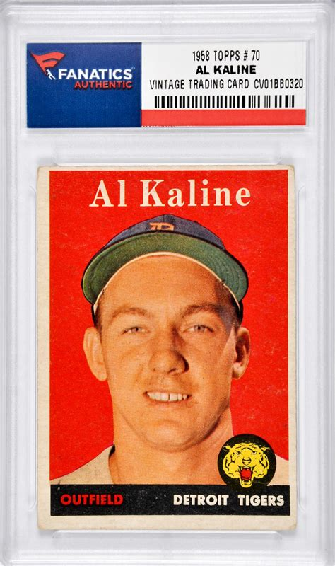 Detroit Tigers Gift Cards - alan kaline detroit tigers 1958 topps 70 card