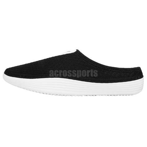 nike slide on sandals nike solarsoft mule black white mens sports sandals slide