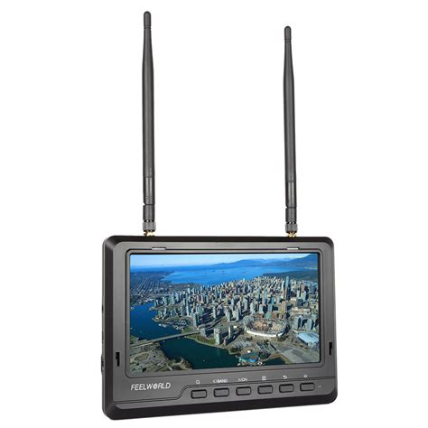 Monitor Wireless feelworld fpv720 7 quot ips screen dual diversity receiver ultra hd wireless monitor built in