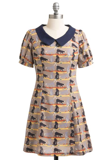 Cat Blue Dress cats the ticket dress mod retro vintage dresses