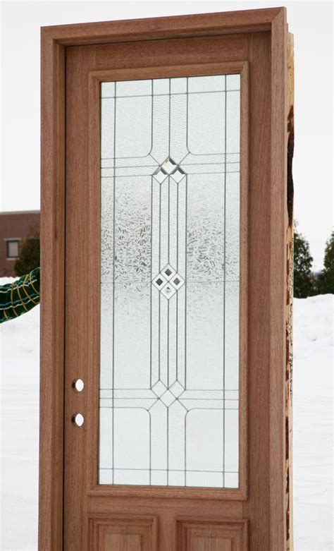 Glass Front Door Wood Front Doors With Decorative Glass