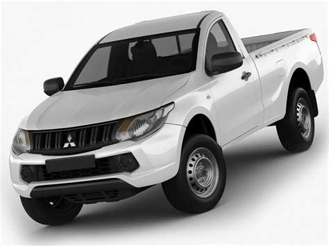 mitsubishi l200 single cab mitsubishi l200 triton 2015 single cab 3d model cgstudio