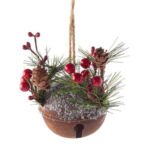 rustic woodland jingle bell ornament christmas ornaments