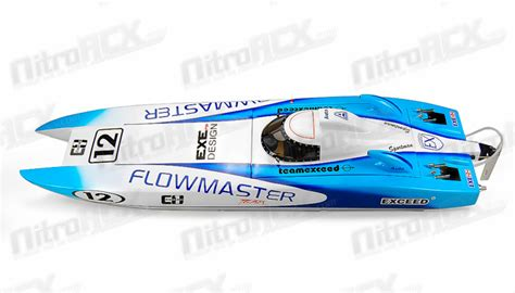 rc gas boat catamaran exceed racing fibgerglass flowmaster catamaran 26cc gas