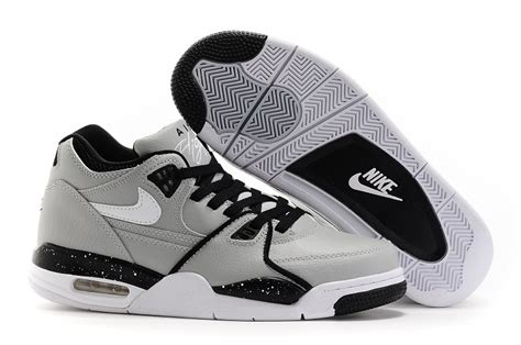 nike air shoes for nike air flight 89 wolf grey black white shoes for sale