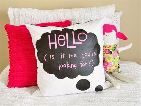 diy chalkboard speech diy chalk cloth speech pillow