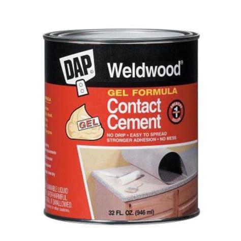 dap weldwood 32 fl oz gel formula contact cement 25312