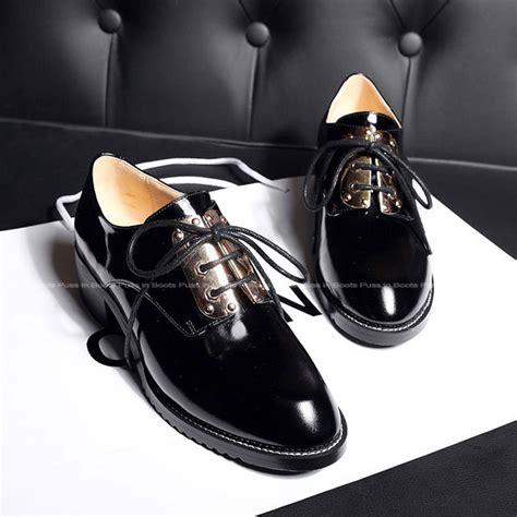 womens black patent leather oxford shoes 2015 autumn fashion patent leather flats black