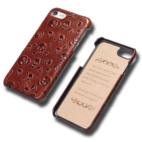 Luxury Genuine Leather Back Cover For Iphone 6 Plus 6s Plus 100 genuine leather back cover for apple iphone 6 6s 4 7 quot skull pirate style luxury with