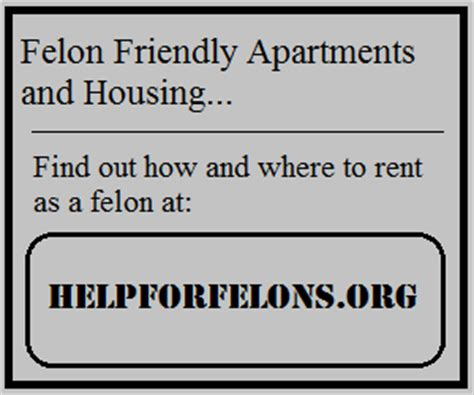 Can You Rent An Apartment With A Criminal Record Felon Friendly Apartments Housing For Felons