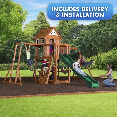 two swing swing set backyard discovery woodbury swingset free delivery and