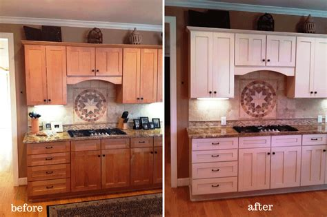 kitchen cabinet before and after wood painting kitchen cabinets before and after all home