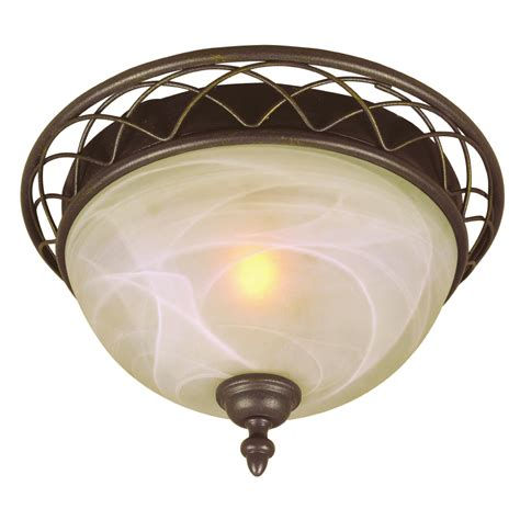 Lowes Ceiling Light Fixtures Shop Bel Air Lighting 12 64 In W Ceiling Flush Mount At Lowes