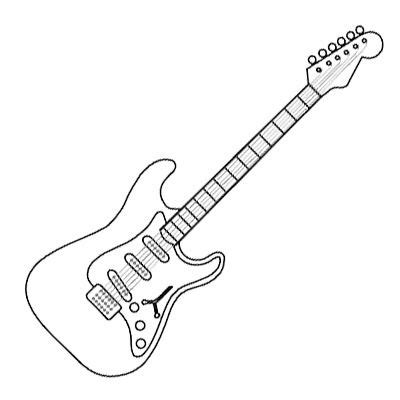 rock and roll coloring pages electric guitar coloring