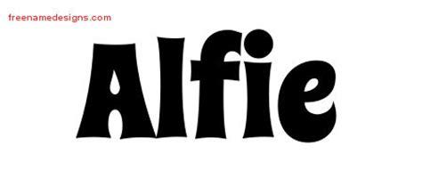 alfie tattoo designs groovy name designs alfie free free name designs